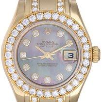 Rolex Ladies Masterpiece/Pearlmaster Gold Diamond Watch 80298...