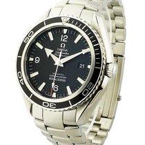 Omega 2200.50 Planet Ocean in Steel - on Steel Bracelet with...