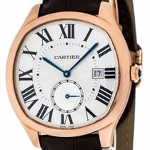 Cartier Drive Silver Dial 18KT Rosegold Automatic Men's...