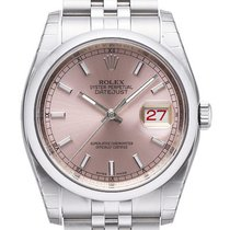 Rolex Oyster Datejust 36mm 116200 Jubilé Pink Index