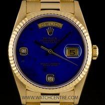 Rolex 18k Y/G O/P Rare Lapis Lazuli Diamond Day-Date B&P...