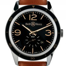 Bell & Ross BR 123 Golden Heritage Stahl Automatik Armband...