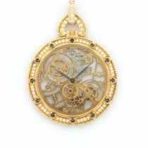 Audemars Piguet Yellow Gold Skeletonized Diamond Pocket...