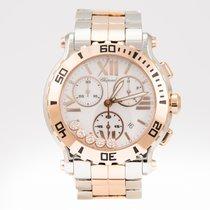 Chopard Happy Sport Rose Gold & Steel 42mm White Diamond ...