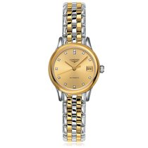 Longines Flagship Automatic Gold Plated Gold Dial Ladies Watch...