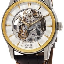 Oris Artelier Skeleton Automatic Steel & Gold Tone Mens...