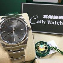 Rolex Cally - 114300 39mm Oyster Perpetual Steel Rhodium Grey...