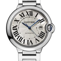 Cartier Ballon Bleu Stainless Steel Silver Dial 42mm W69012Z4