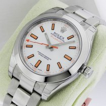 Rolex Milgauss 116400 Stainless Steel White Dial Box & Papers