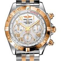 Breitling Chronomat 41 Steel & 18kt Rose Gold Mens Watch...