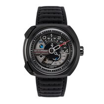 Sevenfriday V-Series Automatic Black Leather Men's Watch V3-1