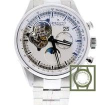 Zenith El Primero Chronomaster Grande date moonphose open silver