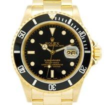 Rolex Submariner Date 18kt Yellow Gold Black Dial/Bezel - 16618