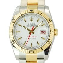 Rolex Datejust Turn-O-Graph Two Tone 18kt Yellow Gold/SS - 116263