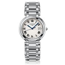 Longines PrimaLuna Quartz Stainless Steel White Dial Ladies...