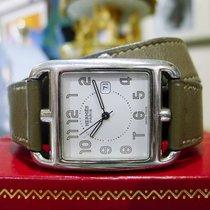 Hermès Cape Cod Cc2.710 Steel Brown Wrap Around Bracelet...