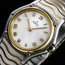 Ebel SPORT CLASSIC 18K/750er GOLD BEZEL SAPHIRGLAS DAMEN UHR