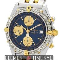 브라이틀링 (Breitling) Chronomat Steel & Gold Blue Dial Diamond...