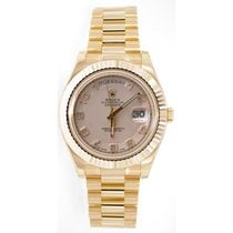 Rolex Day-Date II 218238 18K Yellow Gold 41MM Ivory Concentric...