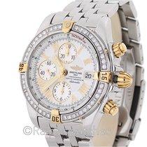 Breitling Chronomat Evolution B13356 Chronograph 18K SS Roman...