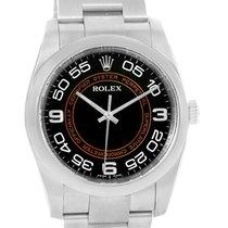 Rolex Nodate Black Orange Concentric Dial Steel Watch 116000...