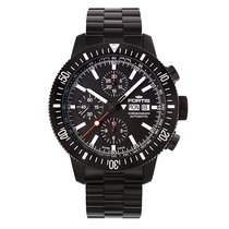 Fortis MONOLITH CHRONOGRAPH Black PVD Automatic Steel Date...