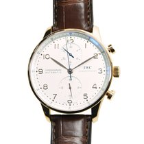 IWC Portuguese 18k Rose Gold Silvery White Automatic IW371480
