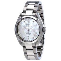 Omega Aqua Terra Seamaster MOP Diamond Dial Ladies Watch...