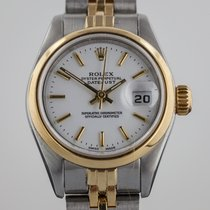 Rolex Datejust, Ladies, 18K Gold and Stainless Steel, White...