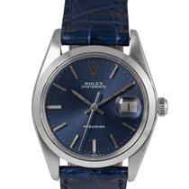 Rolex Oysterdate Precision Steel with Blue Dial, Ref: 6694