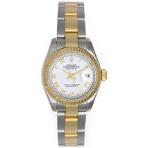 Ρολεξ (Rolex) Ladies 2-Tone Datejust Watch 179173 White Dial