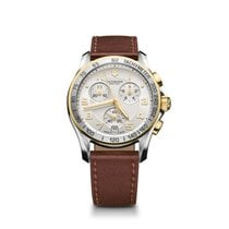 Victorinox Swiss Army Chrono Classic steel/gold case, silver...