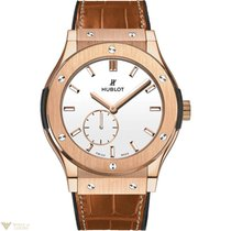 Hublot Classic Fusion Classico 18k Rose Gold Leather Automatic...