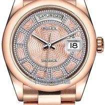 Rolex Day-Date 36mm Everose Gold Domed Bezel 118205 Pink MOP...