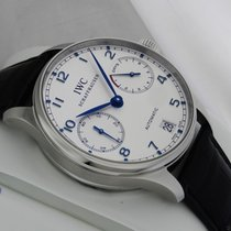 IWC Portuguese Auto Chronograph 7 Day Power Reserve Leather...