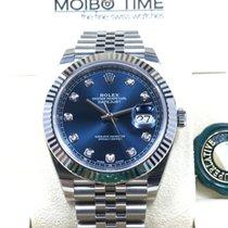 Rolex Datejust II Sunray Blue Diamond Dial Jubilee 41mm NEW