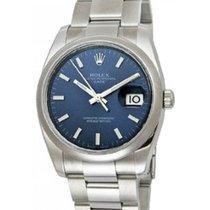 Rolex Datejust Men's 36mm Dark Blue Stainless Steel Bracelet