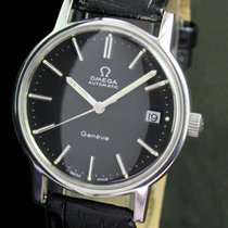 Omega Geneve Automatic Quick Set Date Steel Mens Vintage Watch