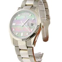 Rolex Used 118239 Mens President in White Gold with Fluted...