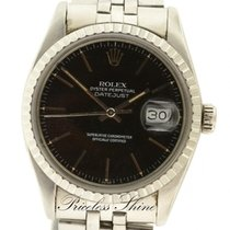 Ρολεξ (Rolex) Datejust Vintage Black 36mm Steel Automatic...