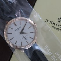 Patek Philippe Calatrava Silver Dial 18k Rose Gold Brown