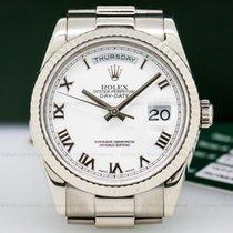 Rolex 118239 Day Date President White Roman 18K White Gold...