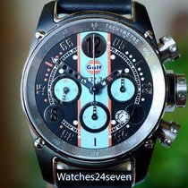 B.R.M Gulf Racing Chronograph Light Blue PVD Limited Edition 44mm
