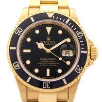 Rolex Submariner 16618 B&P Yellow Gold 1994