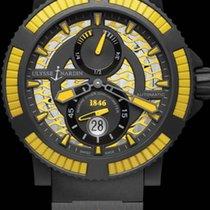 Ulysse Nardin DIVER BLACK SEA Steel Bezel Black And Yellow...