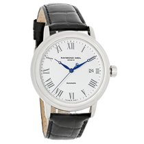 Raymond Weil Maestro Mens Black Leather Band Watch 2837-STC-00308