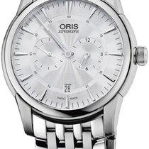 Oris Artelier Regulateur Automatic Steel Mens Watch Silver...