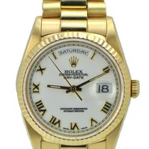 Rolex Day Date Presidential Men's 18k White Roman Dial
