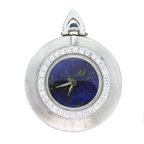 까르띠에 (Cartier) Pocket Watch 18K  Gold, Lapis Lazuli Dial