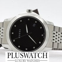Gucci G-Timeless Diamond black dial YA126405